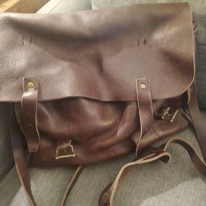 J.Crew Men's Leather Railway Messenger Bag